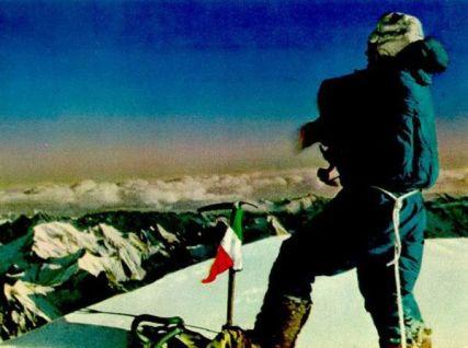 Grivel Mont Blanc: Historia. Los 14 Ochomiles fueron todos vencidos por primera vez calzando crampón Grivel.