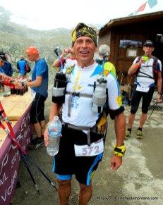 Grivel Mont Blanc material trail. Giuseppe Grange en Tor des Geants 2013
