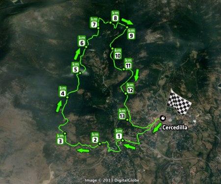 Carrera Navidad Cercedilla 2013 Recorrido 13,8km D+523m