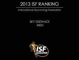 Skyrunning 2013 Skyraces Ranking final top100 Men