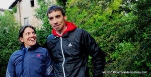 Adidas Trail: Luis Alberto Hernando y Uxue Fraile en Zegama 2013. Foto: Mayayo