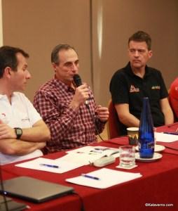 Michel Poletti, presidente de ITRA en la presentación de Spain Ultra Cup el 14Dic.