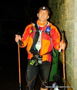 Mayayo en la meta del Trail Aneto 2008, la recia edición inaugural