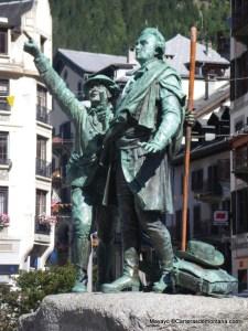 Saussure y Balmat, honrados por la fama desde el principio.