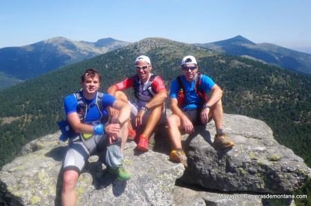 Entrenamiento Trail running Escorial Cercedilla. Pedro Bianco con Mayayo y Felipe Treparriscos.