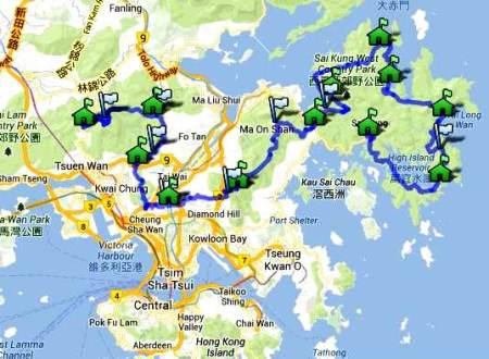 Vibram Hon Kong 100k: trazado de carrera.