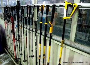 Gama bastones Grivel en la factoría de Aosta. El gran experto mundial.