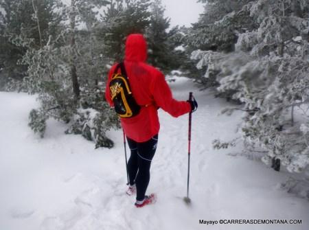 Bastones trail running Grivel Tor: Salida invernal SL.Escorial - Cercedilla.