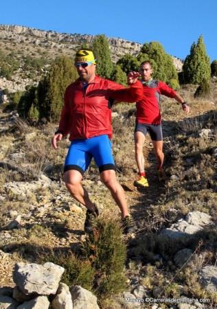 entrenamiento trail running CSP115k Pablo Criado y Cristobal Adell. Foto Mayayo