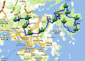 vibram hong kong 100 2014.  mapa de carrera