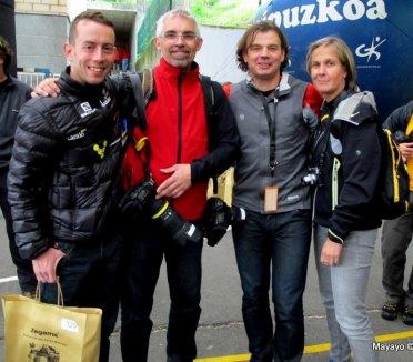 El equipo de Carrerasdemontana.com en Zegama, para traeros cada aspecto de la carrera.