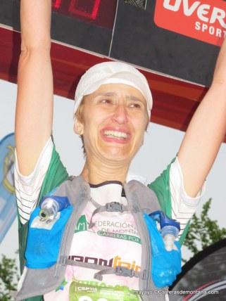 Noelia Camacho, segunda en meta.
