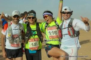 Los 4 españoles presentes en los 100km del sahara 2014.
