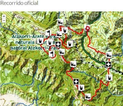 Zegama Aizkorri 2014 Mapa de carrera.
