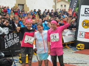 Elisa Desco, Maite Maiora y Stevie Kremer, podio Zegama 2014