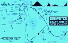 Badwater Ultramarathon 2014 Mapa de carrera
