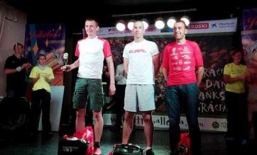 Casey en el podio de Ultra Mallorca 107k