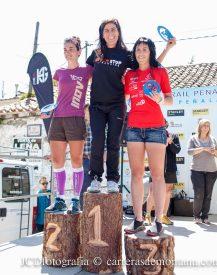 Podio femenino Spain Ultra Cup, en lo alto del  GTP14.