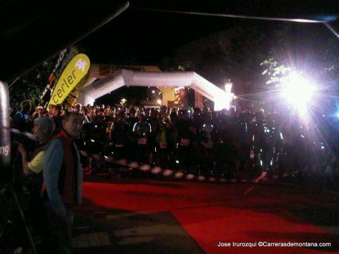 Gran Trail Aneto 2014 109k. Salida de Benasque a medianoche.