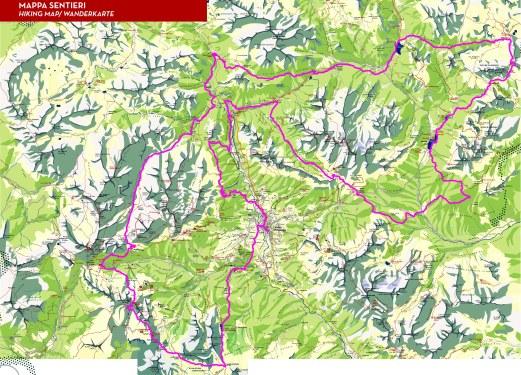 Lavaredo Ultra Trail 2014 Mapa de carrera.