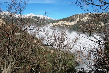 Nuria Queralt 2014 Paisajes del trazado, desde el Santuario de Queralt.