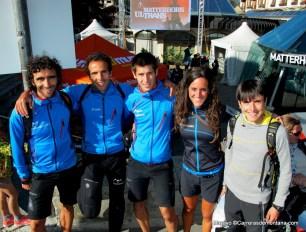 Aritz Egea, Maite Maiora y más corredores de la selección vasca en la previa.