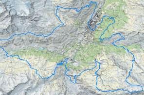 Ultra trail 2013 Mapa Matterhorn ultraks 16k-30k-46k
