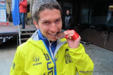 Manuel Merillas, un 2104 con bronce europeo en skimo y mundial en ultra.