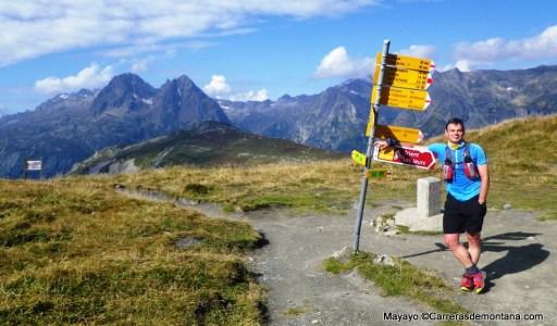 Tour del Mont Blanc: Perfecto balizaje en Col de La Balme.