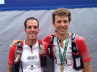 Mont Blanc Marathon 2013 Campeones 80k Mont Blanc François D´Haene y Michel Lanne