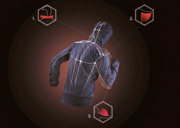 Salomon hybrid jacket: detalle del patronaje. Foto Salomon