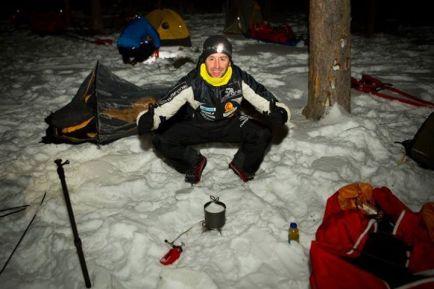 Joel Jaile,en plena Yukon Arctic Ultra.