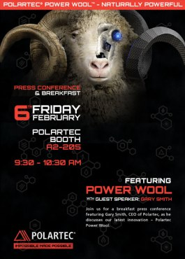 Polartec presentó su gama Polarwool en conferencia prensa internacional.