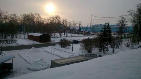 Así acogía Irkutsk a Sofía García, con -18ºC. Foto: Sofía García.
