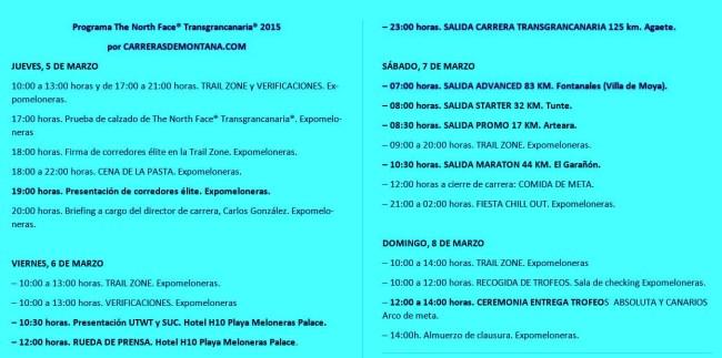 Transgrancanaria 2015 Programa completo 5-8 Marzo 2015 (2)