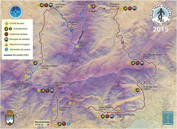 Gran Trail Peñalara recorrido 2015 vs 2014