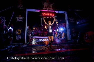 Nuria Picas entra vencedora en Buff Epic Run 2014.
