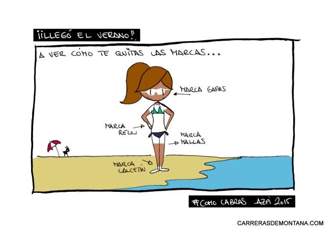 """Trail Humor_ Trail viernes en Carrerasdemontana.com. """"Las marcas de playa"""""""