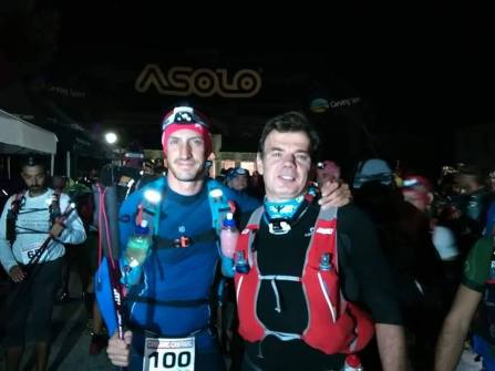 Canfranc Canfranc 2015: Borja y Mayayo en la salida Ultra 90km