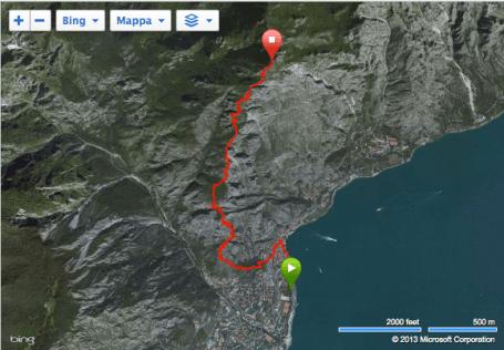 Limone extreme 2015 recorrido kilometro vertical