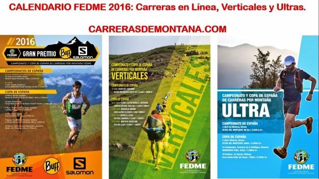 Calendario Carreras Montaña 2016 Fedme