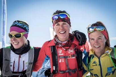podio fememino skimo fontblanca 2016 laura orgue emelie forsberg victoria kreuzer