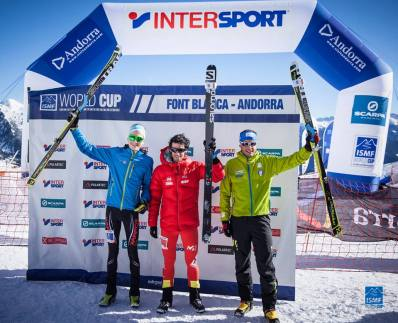 podio masculino skimo fontblanca 2016 kilian jornet remi bonnet michele fotos ismf skimo