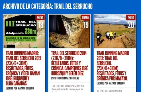 trail del serrucho ediciones 2013-14-15