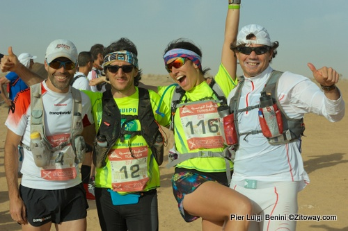 Españoles en 100k Sahara 2014: Raul, Luis, Alma y Sergio