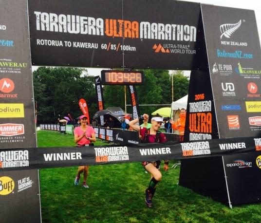 Tarawera Ultramarathon 2016 winners fiona haywice mini