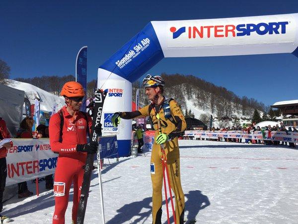 Kilian Jornet campeón del mundo skimo Individual 2016. Anton Palzer 2º
