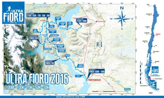 Ultrafiord 2016: Mapa de carrera.