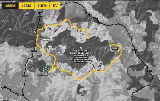 Buff Epic trail 2016. Mapa carrera Ultra
