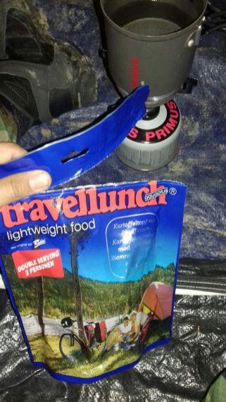 comida de montaña deshidratada liofilizada